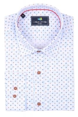 Cтильная мужская рубашка в рисунок, длинный рукав  (Арт. T 3964)