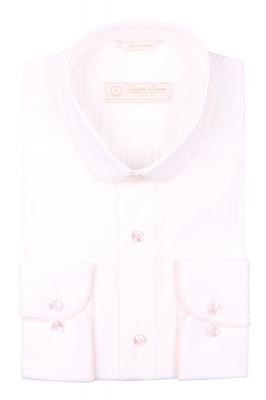 Cтильная мужская рубашка с окантовкой по воротнику, длинный рукав  (Арт. T 3976)