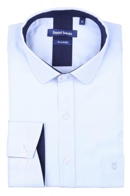 Классическая мужская рубашка в рисунок, длинный рукав  (Арт. T 4031)