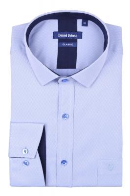 Классическая мужская рубашка в рисунок, длинный рукав  (Арт. T 4033)