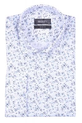 Стильная мужская рубашка в рисунок, длинный рукав  (Арт. T 4034)