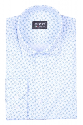 Стильная мужская рубашка в рисунок, длинный рукав  (Арт. T 4035)