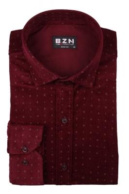 Вельветовая мужская рубашка в рисунок, длинный рукав  (Арт. T 4046)