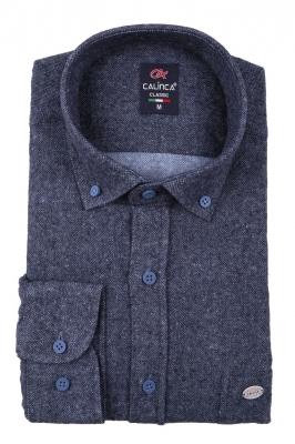 Классическая кашемировая мужская рубашка, длинный рукав (Арт. T 3990)