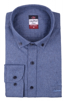 Классическая кашемировая мужская рубашка в клетку, длинный рукав (Арт. T 4006)