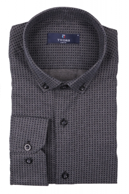 Стильная мужская рубашка в рисунок, длинный рукав (Арт. T 4011)