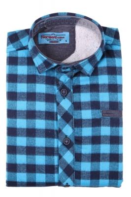 Детская рубашка в клетку утеплённая, длинный рукав (Арт. TB 4191)