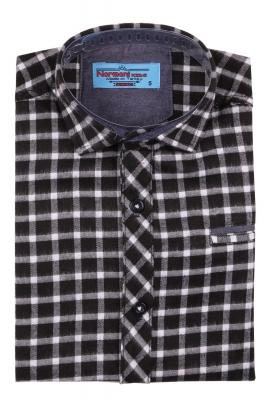Детская рубашка в клетку, длинный рукав (Арт. TB 4206)