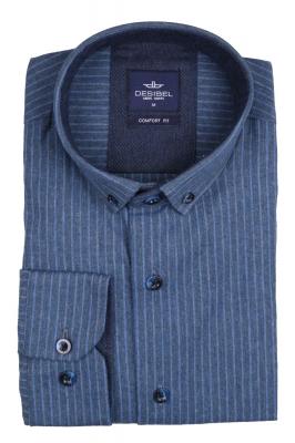 Мужская классическая рубашка в полоску, длинный рукав (Арт. T 4139)