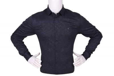 Стильная мужская однотонная рубашка, длинный рукав (Арт. T 4272)