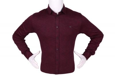 Стильная мужская рубашка в мелкий рисунок, длинный рукав (Арт. T 4278)