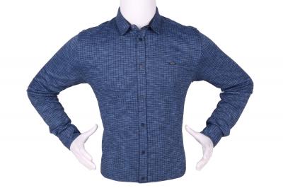 Стильная мужская рубашка в мелкий рисунок, длинный рукав (Арт. T 4280)