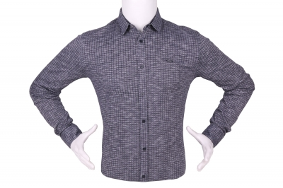 Стильная мужская рубашка в мелкий рисунок, длинный рукав (Арт. T 4281)