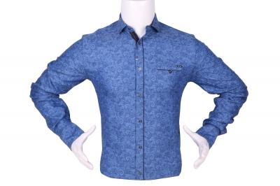 Стильная мужская рубашка в мелкий рисунок, длинный рукав (Арт. T 4285)