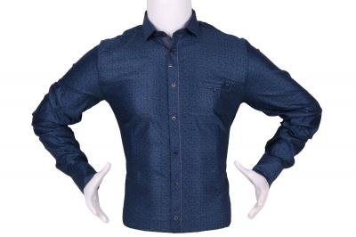 Стильная мужская рубашка в мелкий узор, длинный рукав (Арт. T 4292)