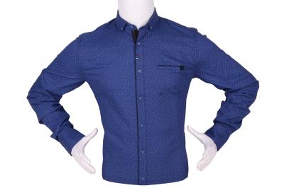 Стильная мужская рубашка в мелкий узор, длинный рукав (Арт. T 4293)
