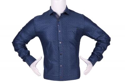 Стильная мужская рубашка в мелкий узор, длинный рукав (Арт. T 4294)