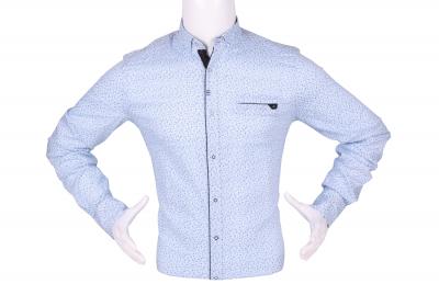 Стильная мужская рубашка в мелкий узор, длинный рукав (Арт. T 4295)