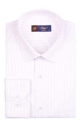 Классическая мужская рубашка в полоску, длинный рукав (Арт. T 4081)