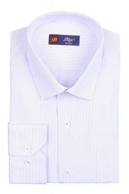 Классическая мужская рубашка в полоску, длинный рукав (Арт. T 4083)