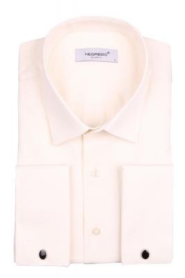 Мужская однотонная рубашка в мелкий рисунок, длинный рукав (Арт. T 4100)