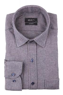Мужская классическая рубашка в клетку, длинный рукав (Арт. T 4334)