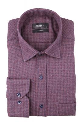 Мужская классическая рубашка в клетку, длинный рукав (Арт. T 4335)