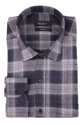 Мужская классическая рубашка в клетку, длинный рукав (Арт. T 4338)