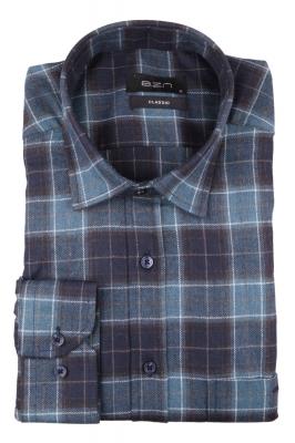 Мужская классическая рубашка в клетку, длинный рукав (Арт. T 4339)