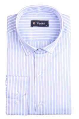 Стильная мужская рубашка в полоску, длинный рукав (Арт. T 4353)