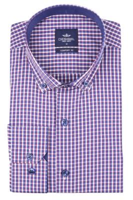 Мужская рубашка в клетку, длинный рукав (Арт. T 4355)