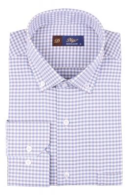 Мужская классическая рубашка в клетку, длинный рукав (Арт. T 4369)