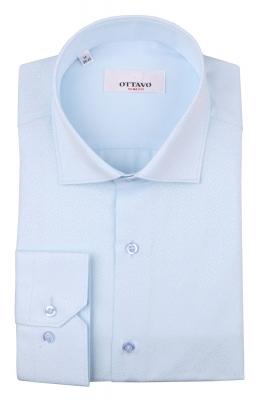 Стильная мужская рубашка в мелкий рисунок, длинный рукав (Арт. T 4377)