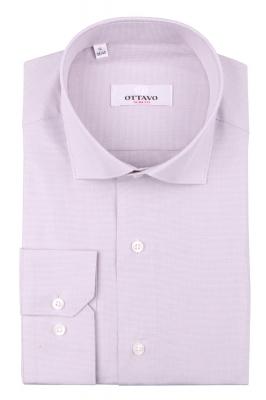 Однотонная мужская рубашка, длинный рукав (Арт. T 4379)