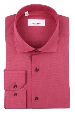 Стильная мужская рубашка в мелкую клетку, длинный рукав (Арт. T 4385)