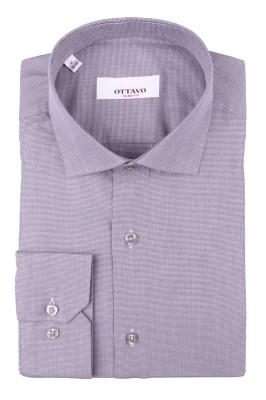 Стильная мужская рубашка в мелкую клетку, длинный рукав (Арт. T 4386)