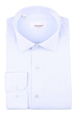 Стильная мужская рубашка в мелкую клетку, длинный рукав (Арт. T 4390)