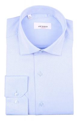 Стильная мужская рубашка в мелкую клетку, длинный рукав (Арт. T 4392)