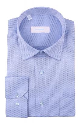 Рубашка мужская классика в мелкий узор, длинный рукав (Арт. T 4401)