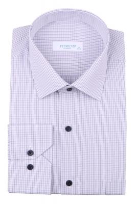 Рубашка мужская классика в мелкую клетку, длинный рукав (Арт. T 4426)
