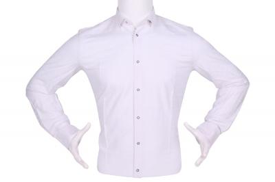 Рубашка мужская приталенная в рисунок, длинный рукав (Арт. T 4465)
