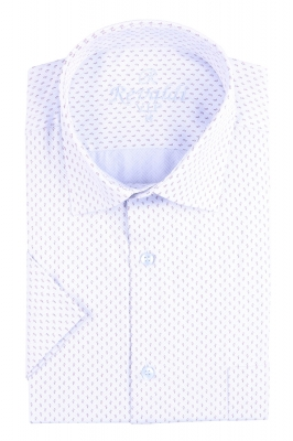 Рубашка мужская классика в рисунок, короткий рукав (Арт. T 4493К)