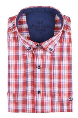Рубашка мужская классика в клетку, короткий рукав (Арт. T 4544К)