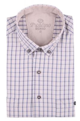 Рубашка мужская классика в клетку, короткий рукав (Арт. T 4545К)