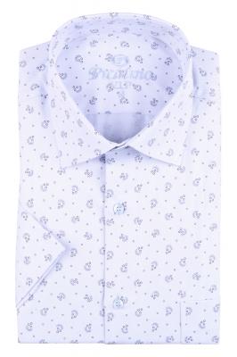 Рубашка мужская классика в рисунок, короткий рукав (Арт. T 4548К)