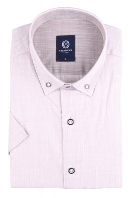 Стильная однотонная мужская рубашка, короткий рукав (Арт. T 4564К)