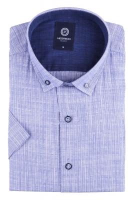 Стильная однотонная мужская рубашка, короткий рукав (Арт. T 4568К)