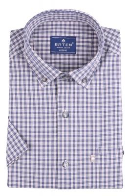 Рубашка мужская классика в клетку, короткий рукав (Арт. T 4571К)