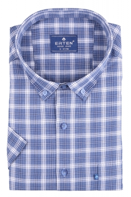 Рубашка мужская классика в клетку, короткий рукав (Арт. T 4596ВК)