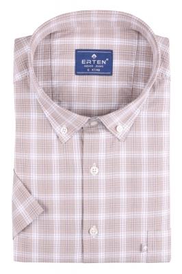 Рубашка мужская классика в клетку, короткий рукав (Арт. T 4597ВК)